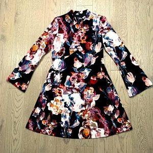 Ivanka Trump Floral Bell-sleeve dress